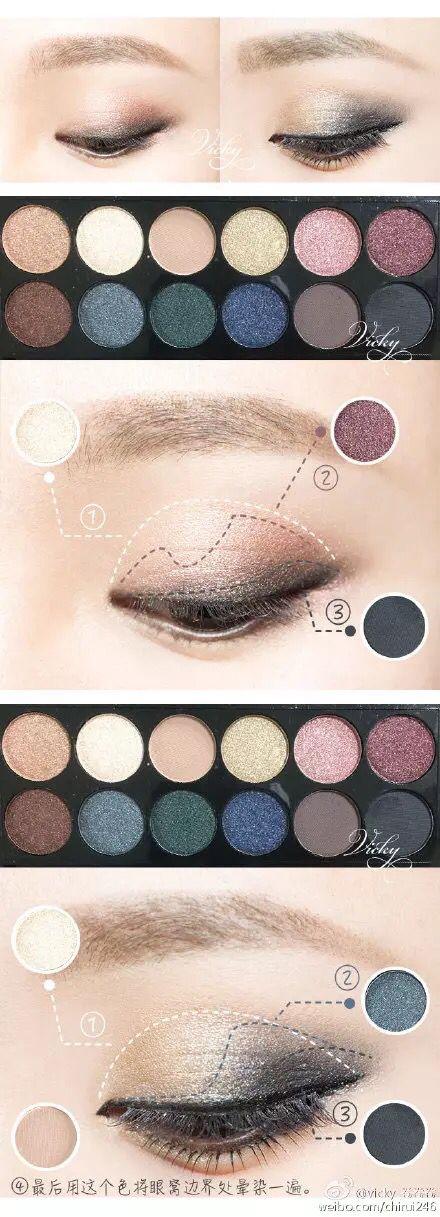 sleek 578 asian eyeshadow makeup tutorial