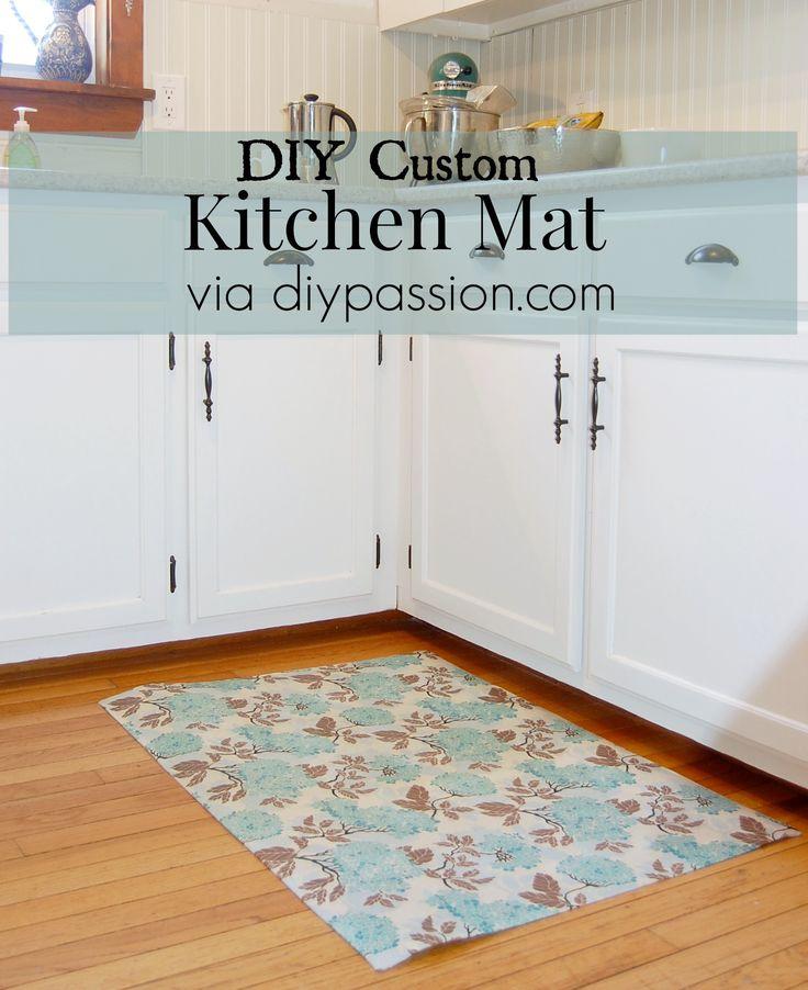 Diy Custom Kitchen Mat Via Diypassion Com I Need A