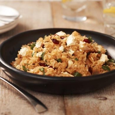 Cranberry and Feta Spiced Rice Pilaf   #DairyKitchen