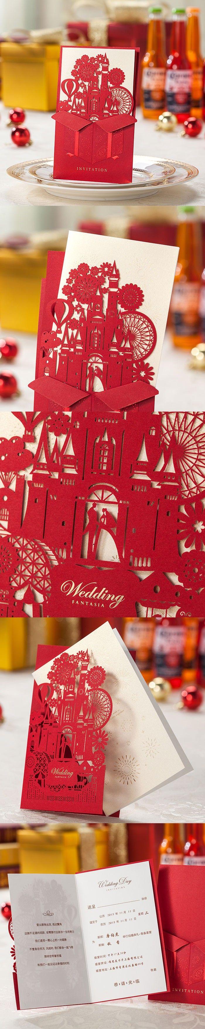 49 best pop up images on Pinterest   Invitations, Wedding stationery ...