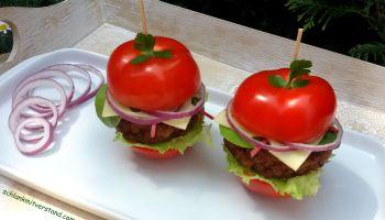 low carb Tomaten-Burger