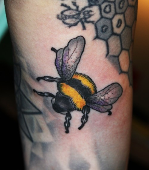49 Best Bee Tattoos Images On Pinterest