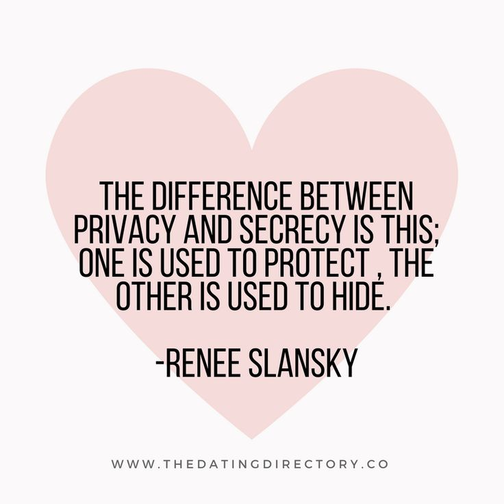 Do you know the difference between privacy and secrecy?