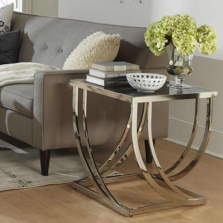 25 best ideas about modern end tables on pinterest grey - Metal side tables for living room ...