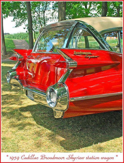 """1950sbeautifulyears: """"1959 Cadillac Broadmoor Skyview wagon """""""