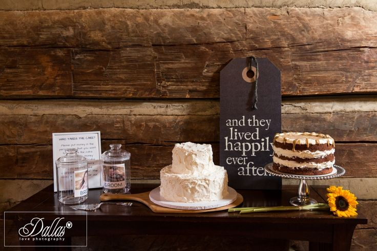 Bride and Groom Cake at Table Rock Lodge, Pickens, South Carolina http://dallaslovephotography.com/?p=13110