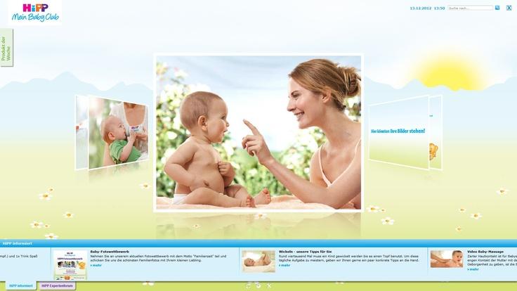 """Der Hipp """"Mein BabyClub Bildschirmschoner"""" bietet (werdenden) Eltern viele tolle und nützliche Funktionen"""