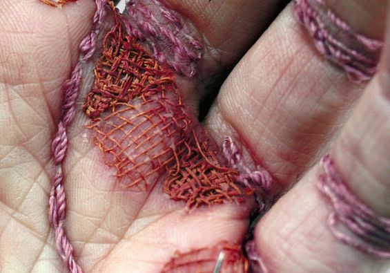 Eliza Bennett Embroiders Her Own Hand In Courageous Statement About Women Laborers