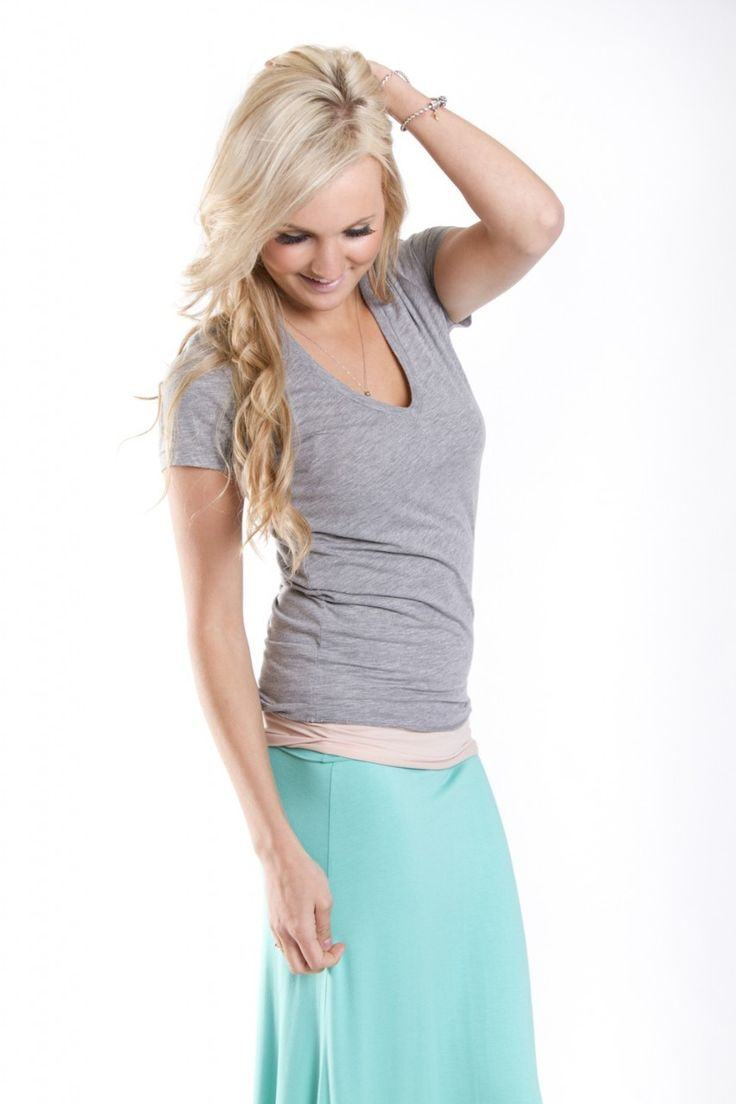 Style Trend Clothiers - Alternative Apparel Karen V-Neck Tee in Heather Grey, $25.00 (http://www.styletrendclothiers.com/alternative-apparel-karen-v-neck-tee-in-heather-grey/)