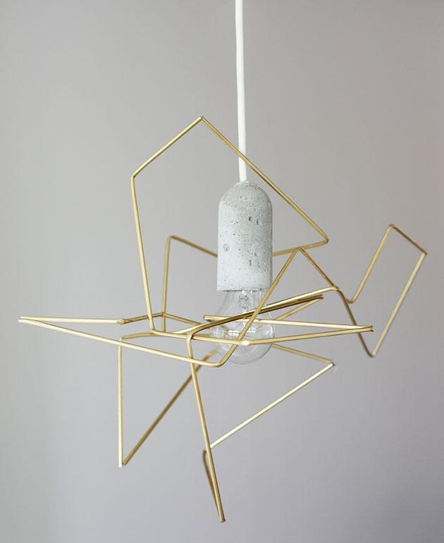 Une lampe géométrique DIY   Deco Décoration Design MyDz