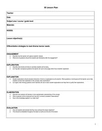 1000 images about 5e lp on pinterest for Learning cycle lesson plan template