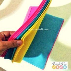"Quiet Book o Libro de Fieltro que ""NO REQUIERE COSTURA"" DIY - Quiet book felt book DIY no sew"
