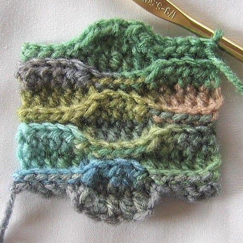 Crochet Wave Stitch punto onda ondulado ganchillo