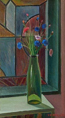 Veikko Vionoja - Flowers in a vase, 1972
