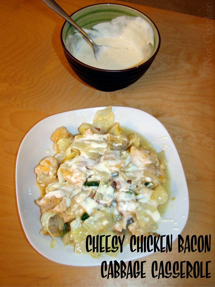 Cheesy Chicken Bacon Cabbabe Casserole | Paleo & Low Carb Chili, Stew ...