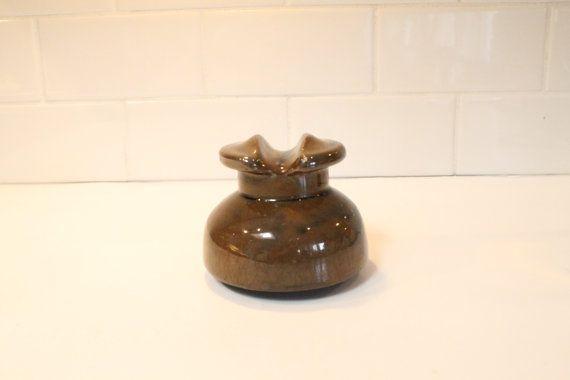 SALE 25% OFF:  Glass Insulator Porcelain by ClockworkRummage