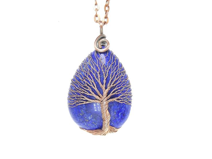 Excited to share the latest addition to my #etsy shop: Lapis lazuli necklace Copper tree-of-life pendant 5th anniversary gift First year together Copper anniversary Beauty gift for wife Sorry http://etsy.me/2EeezK6 #pendants #lapislazulinecklace #treeoflifependant