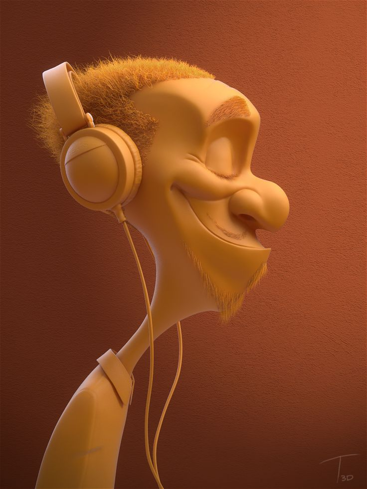 Headphone dude by Kevin Beckers | Caricature | 3D | CGSociety