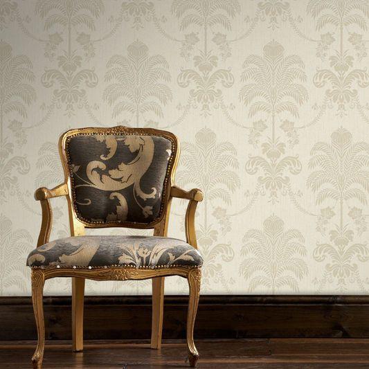 La Palma Cream and Gold Wallpaper, , large