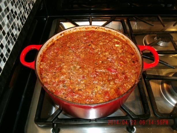 Spaghetti And Meat Sauce - Alton Brown Recipe - Food.com