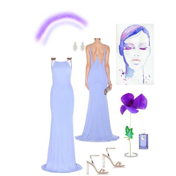 Lilac .estilo a los 50. by natavic on Polyvore featuring Roberto Cavalli, Gianvito Rossi, Oscar de la Renta, Allurez and La Parfumerie Moderne
