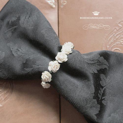 mini roses napkin rings www.bohemiandreams.co.uk