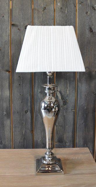 LAMP NICKEL PLATED 51CM