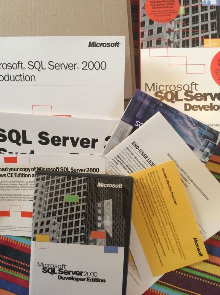 "Also includes SQL server 2000 reporting services. Microsoft SQL Server 2000. Developer Edition. ""rapidly developing scalable, web enabled database and analysis solutions. Interactive debugging, enhanced data transformation, code reuse, and cascading operations greatly simplify programming."". 