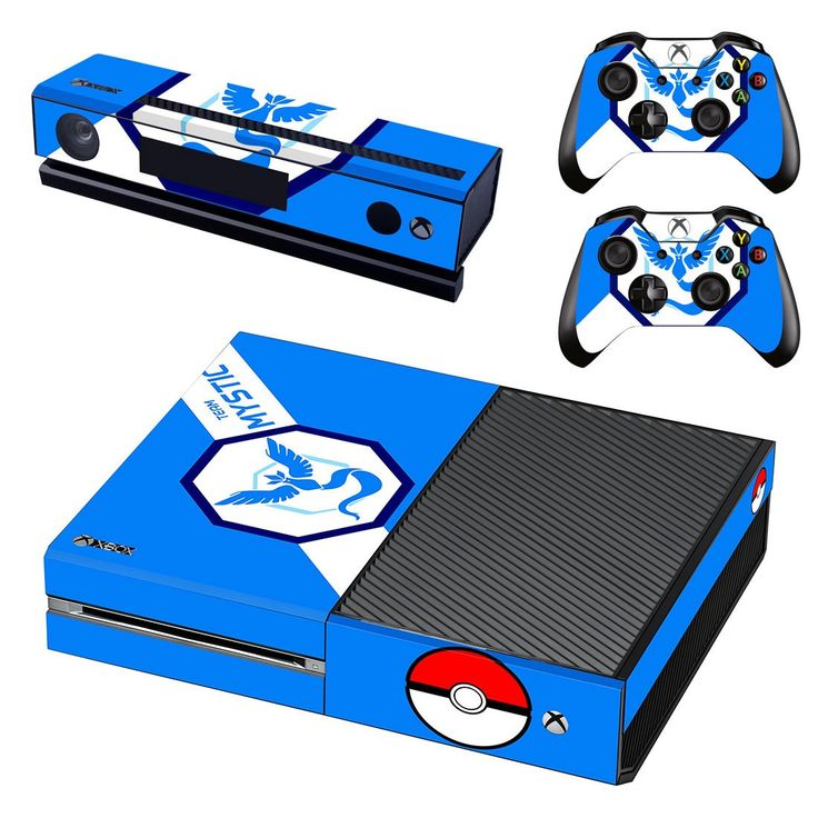 pokemon go team mystic skin decal for xbox one console and controllers