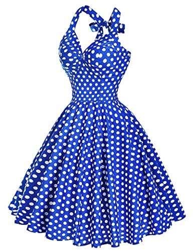 Threeseasons Women Vintage Dresses Polka Dots 50s Rockabilly Wiggle Party Dress – Cherry's Rockabilly