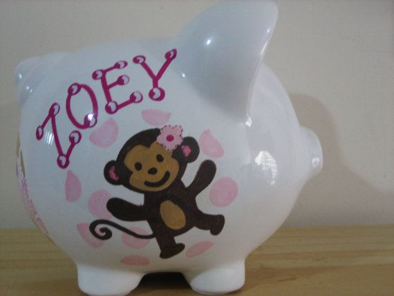 Personalized Large Piggy Bank Carter's by KUTEKUSTOMKREATIONS, $29.99