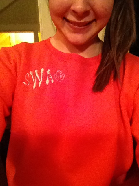 Monogrammed sweatshirt by @scsweetheart. Check out her stuff!