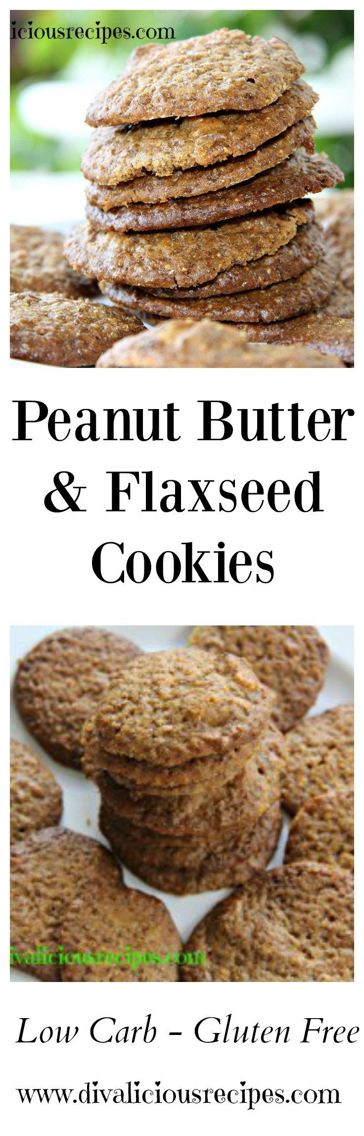 Peanut butter and ground flaxseed come together to make a healthy and filling cookie. Gluten free and low in carbs these cookies are a great snack.