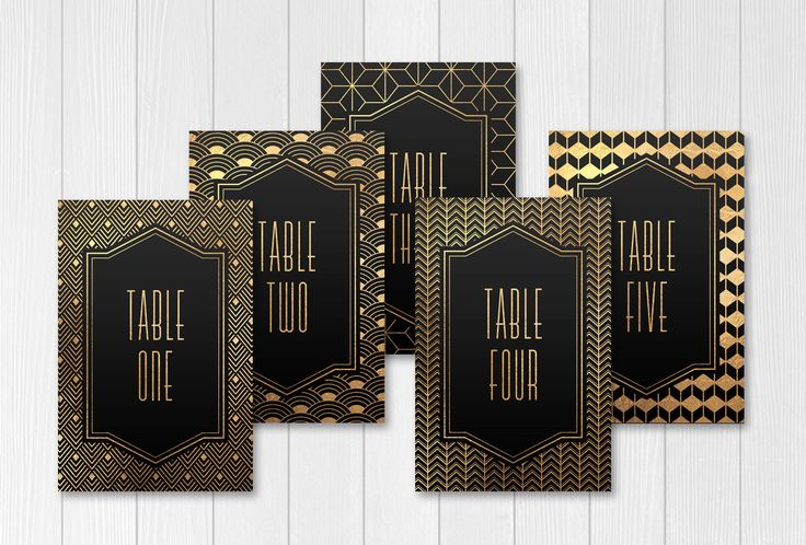 printable table numbers, printable numbers, wedding table number, diy table numbers, wedding decor, art deco wedding, gatsby, digital by Foxbairn on Etsy https://www.etsy.com/listing/268495989/printable-table-numbers-printable