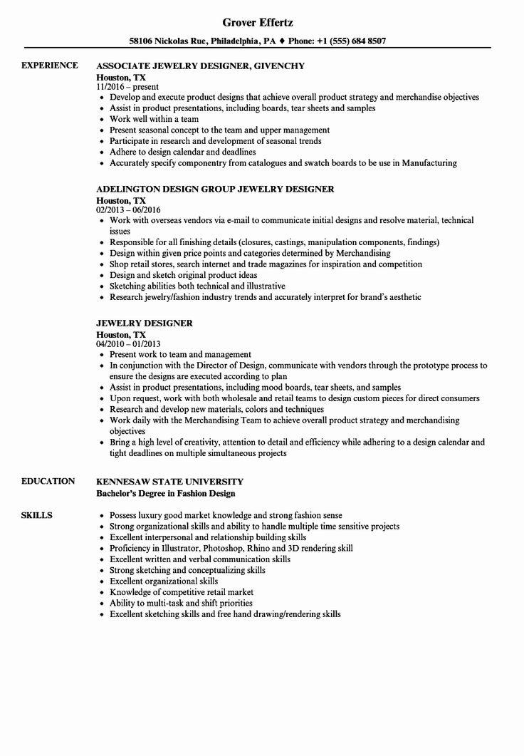25 fashion designer resume sample in 2020 resume design