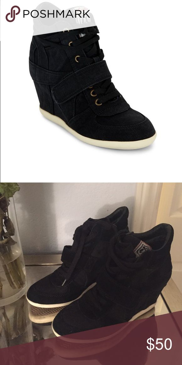 Ash Bowie boots Ash hidden wedge sneakers in black suede.In very good condition. Only with slight visible sign of wear on the soles. Feel free to ask me questions Ash Shoes Heeled Boots