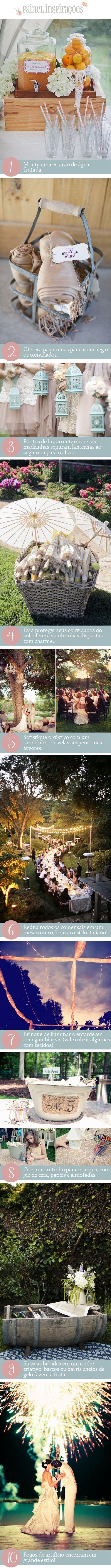 10 dicas para casar ao ar liivre