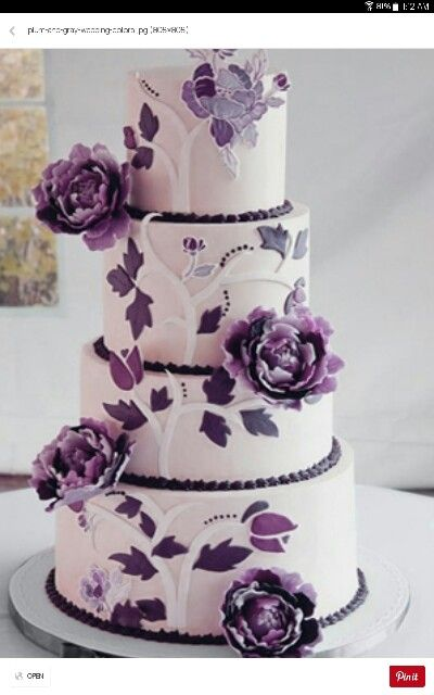 purple and grey wedding cakes purple amp grey wedding cake nuptial collaboration 18860