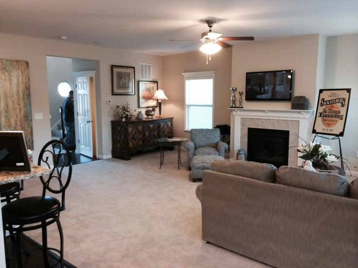 Family Room   Open Floor Plan   Neutral Color   The Chatham By Maronda Homes