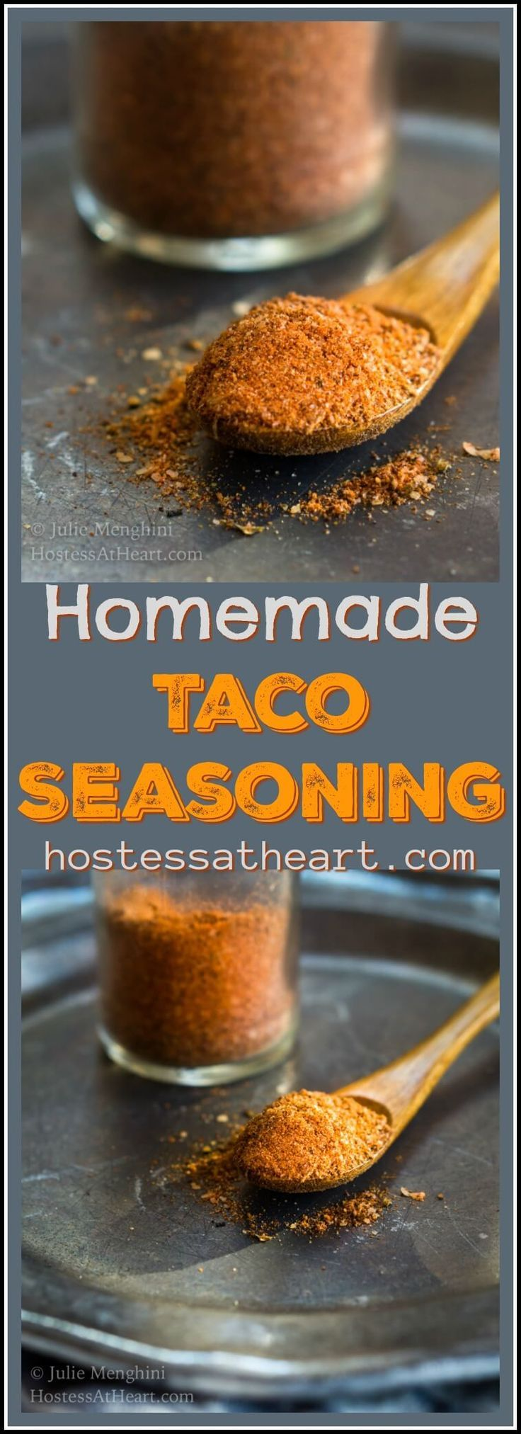 Homemade Taco Seasoning allows you to season dishes exactly the way you like making it perfect for people on special diets or those who like to control intensity.  #MexicanFood #Seasoning #Spices #TacoTuesday | Taco Seasoning Mix | Tacoseasoning | How To Make Taco Seasoning via @HostessAtHeart