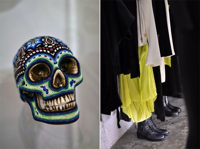 Decorated skull