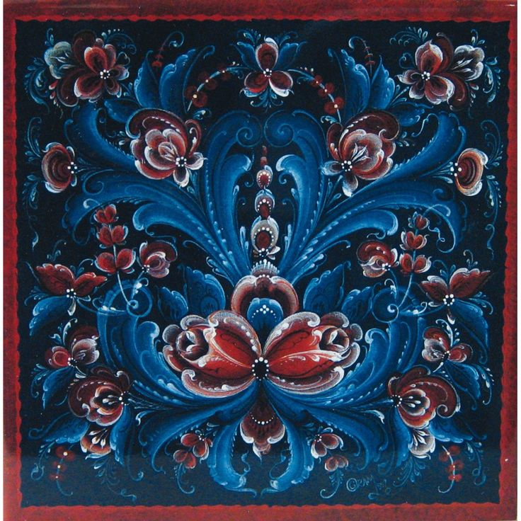 This is rosemaling a traditional norwegian art love love love it