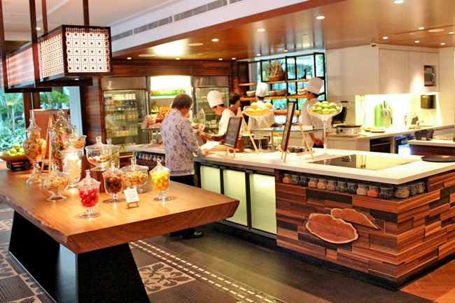 56 best food halls images on pinterest hotel buffet for Waterfall restaurant design