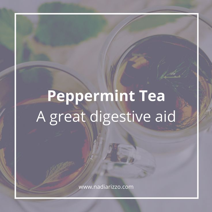Peppermint Tea is a great digestive aid #digestion #tip