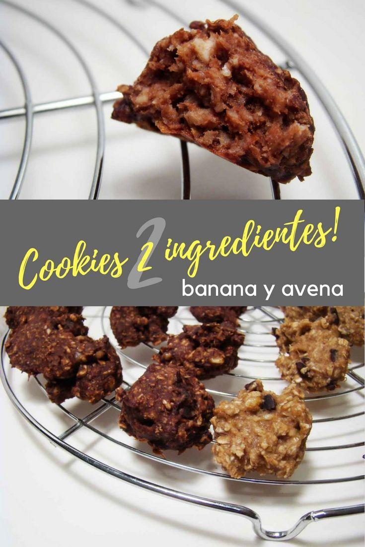 Galletitas de solo 2 ingredientes, banana y avena. Sanas, muy fáciles de hacer. Ideal para hacer con y para los chicos. Muchas opciones como modificarlas. #cookie #galletas #banana #avena #cocina #cocinafacil  #receta #recetafacil #recetasana #sintacc #singluten