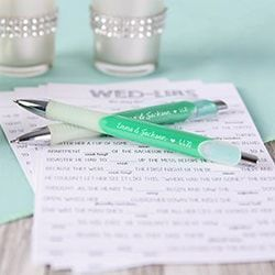 Personalized wedding favors, napkins and more are easy to order and fun to design! Start here for endless custom wedding favors ideas including lip balm, sunglasses, koozies and more personalized favors.
