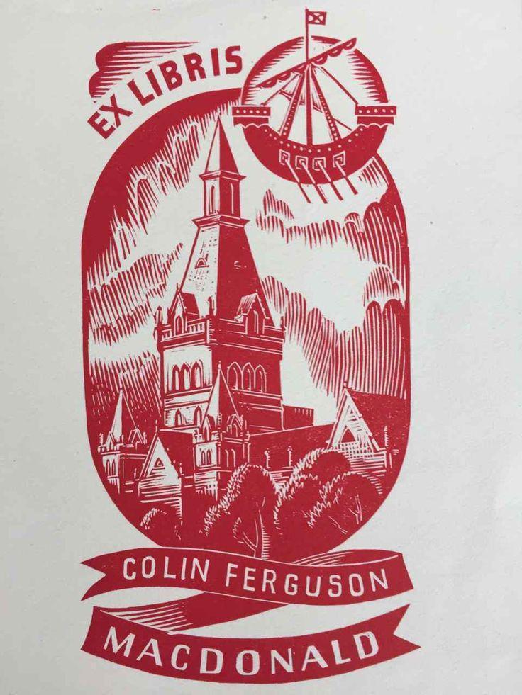 EX LIBRIS BOOKPLATE AUSTRALIAN Allan Jordan 1898-1982 Colin Ferguson MacDonald | eBay