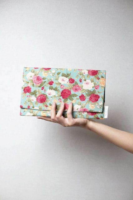 Vintage inspired summer clutch  purse   20  off by MirkaDesign