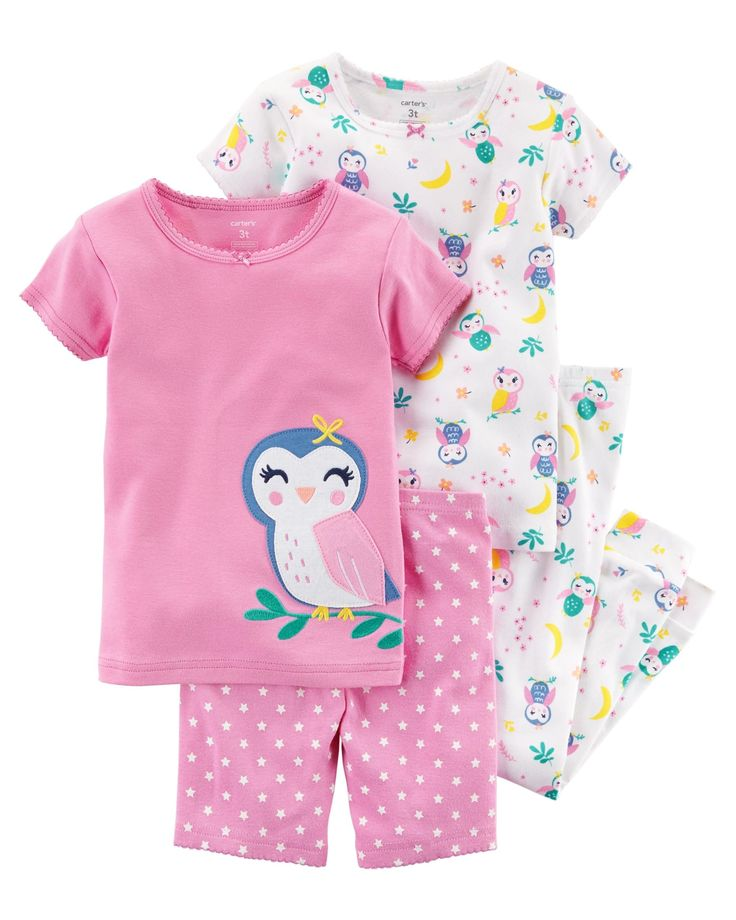 Toddler Girl 4-Piece Snug Fit Cotton PJs   Carters.com