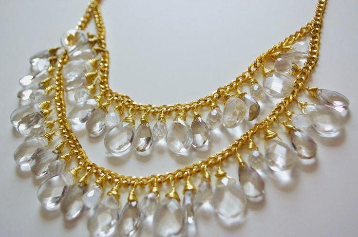 Cascading Crystals DIY Drop Necklace | AllFreeJewelryMaking.com